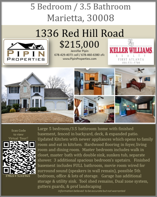 Large 5bd/3.5ba Home in Marietta