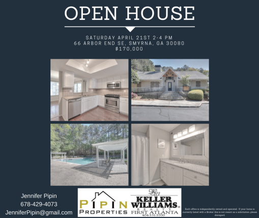 66 Arbor End Open House Flyer